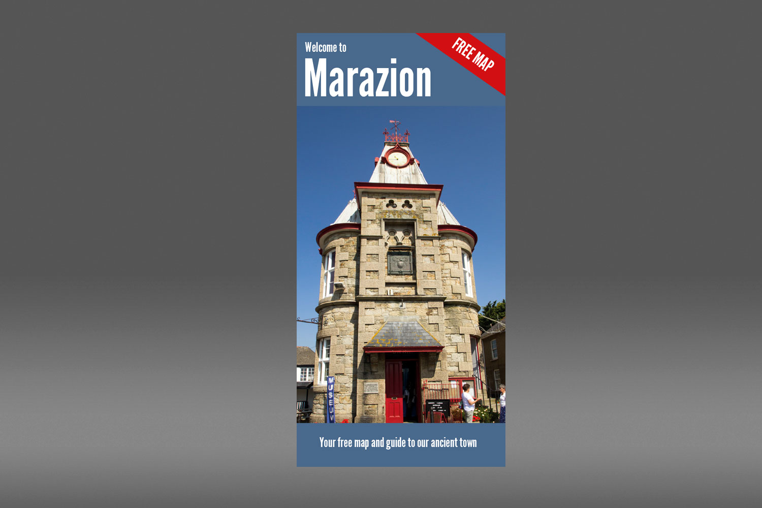 Marazion map and guide design and branding from cornishrock in Cornwall
