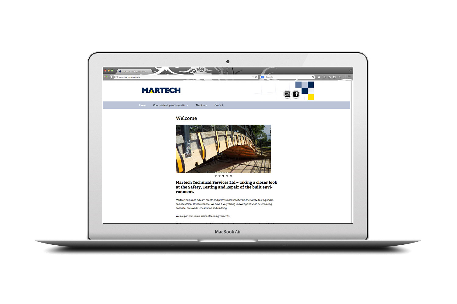 Martech Technical Services website from cornishrock in Cornwall, professional website designers